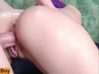 Homemade Fisting with Feet turned into Hard Fuck Creampie! CLOSE UP !!!